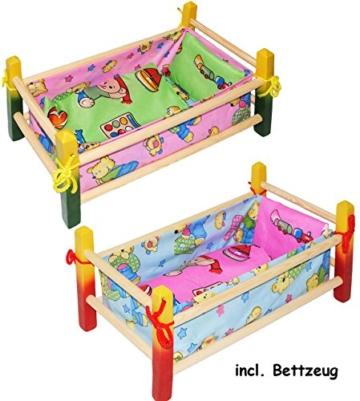 1 Stück _ Holz - Puppenbett -