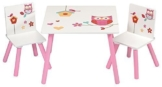 4Uniq Kindersitzgruppe Eule Tisch + Stühle Kindermöbel Kinderzimmer Einrichtung -