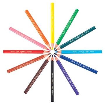 BIC KIDS Buntstift ECOlutions EVOLUTION Triangle, dreikantiger Schaft, 12 Farben sortiert, Kartonetui à 12 Stück, -