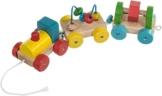 Bieco 74-038314 - Nachzieh Activity Zug, aus Holz -