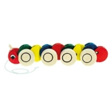 Bino 90985 - Nachziehspielzeug - Mertens Ziehtier Raupe -
