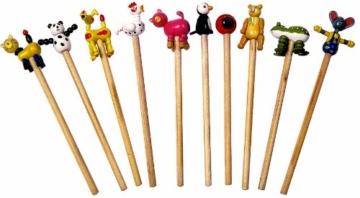 """Bleistifte """"Tiere"""" 10x, verschiedene Bleistifte mit lustigen Tierköpfen, tolles Gastgeschenk an Kindergeburtstagen -"""