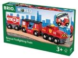 BRIO 33844 - Feuerwehr Löschzug, bunt -