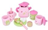 Checklife 901067 Teeservice holz Kinder Rosa 17 tlg Kaffeegeschirr Service Rosa -