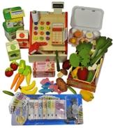 Elfenstall vielfältiges Einkaufs-Laden-Set mit extravaganter Registrierkasse inkl Spielgeld Eierkarton Knorr-Dosen und vieles mehr als Zuberhör für jeden Kaufmanns-Laden bzw. Spiel-Küche -