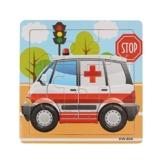 Generic Kind aus Holz Puzzle Spielzeug für Kinder Bildung und lernen (Krankenwagen ) -