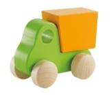 Hape E0054 - Kleiner Kipp-Laster, Holzspielzeug, grün -