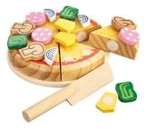 Happy People 45020 - Holz-Pizza, 14 Stück -