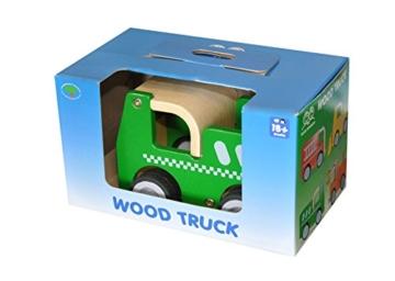 Holzauto Polizeiauto aus robustem Holz mit Gummireifen -