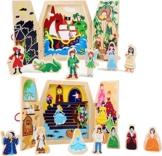 Holzspielzeug Spielfiguren und Box 2 verschiedene Ausführungen zur Auswahl Märchen · Aschenputtel oder Peter Pan • ideal für unterwegs (Spielwelt Aschenputtel) -
