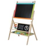 Infantastic Standkindertafel Tafel Kindertafel Lerntafel inklusive Kreide, Schwamm, Buchstaben- und Zahlenmagneten -