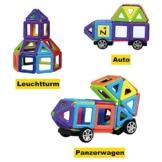 InnooTech 76tlg mini Magnetische Bausteine Konstruktionsbausteine Bauklötze Baukasten Konstruktion Blöcke Magnetspielzeug Lernspielzeug für Baby Kleinkind ab 3 Jahre -