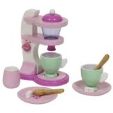 Kaffemaschine aus Holz für Kinder Kinderküche Haushalsgerät Kaffeeservice Holzspielzeug-Peitz -