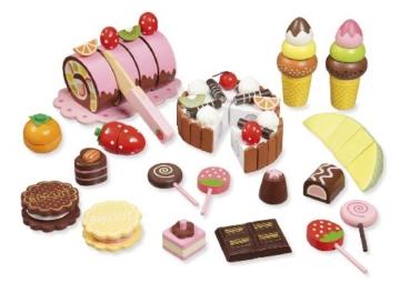 """Kaufladenzubehör """"Süßes"""" aus Holz von howa 4854 -"""