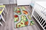 Kinderteppich mit Bauernhof zum Spielen, 95x200cm ✓ Schadstoffgeprüft ✓ Anti-Schmutz-Schicht | Bauernhof-Spielteppich, Bauernhof-Teppich für Jungen & Mädchen | Farmteppich für Fußbodenheizung geeignet | Getufteter Bauernhof-Teppich fürs Kinder-Zimmer -