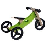Labebe - Holz Kinderlaufrad Dreiräder höhenverstellbar 2 in 1(grün) -