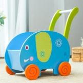 Labebe - Kinder Holz Lauflernhilfe Lauflernwagen (Elefant) -
