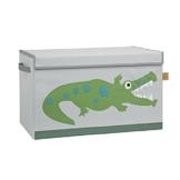 Lässig Storage Toy Trunk Aufbewahrungsbox mit Deckel für Kinderzimmer, Crocodile granny -