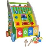 Lauflernwagen Lauflernhilfe Holz Baby Walker Laufwagen Puppenwagen Gehfrei Wagen -