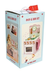 Le Toy Van TV303 Herd mit Backofen-Set Kinderküche pink Holz -