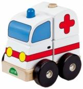 Lena 43202 - Holzsteckfahrzeug Krankenwagen -