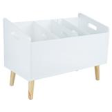 LOMOS® No.20 Design Bücherständer Bücherregal in weiß aus Holz (60x 42x 30cm) -