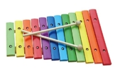 New Classic Toys NCT 0236 - Musikinstrument - Xylophon 12 Töne Holz, bunt -