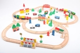 point-kids Eisenbahn-Set aus Holz - 100 Teile -