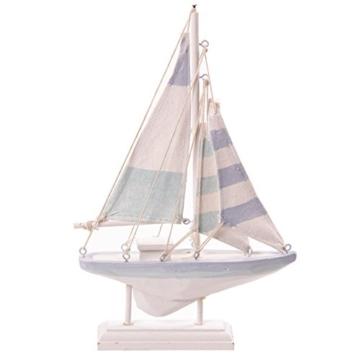 Puckator SEAS37 Segelboot zur Dekoration 23 X 15 X 3 cm Holz Textil -