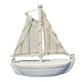 Rayher 8606500 Holz-Segelboot, 8,5 cm -