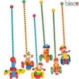 Rollerstabfigur aus Holz, farbig lackiert, ab 18 Monaten, 55 cm: Holz Schiebefigur Schiebetier Lauflern Schiebe Spielzeug Holzspielzeug -