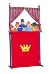 Simba 104586783 - Puppentheater mit 4 Handpuppen, 132cm -