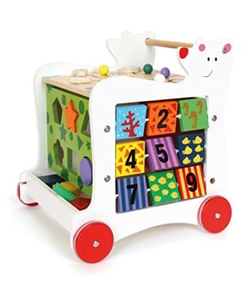 Small Foot by Legler Lauflernwagen aus Holz, vielseitiger Spielspaß für Kinder ab 2, zur Förderung der motorischen Fähigkeiten -