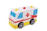 Small Foot Company 6281 - Krankenwagen Kreuz, rot -