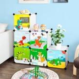 SoBuy® DIY Regal,Kinderregal, Kinderschrank, Kleiderschrank, Steckregalsystem, FSS11 -