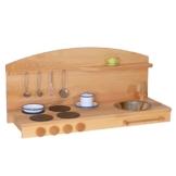 Spielküche Kinderküche Tischküche 1035 G aus massivem Buchenholz geölte Ausführung von Holzspielzeug-Peitz Neu -