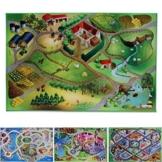 Spielmatte Auf dem Land | Bauernhof | Phthalat-frei | erweiterbar zu einer riesigen Spiellandschaft | 100 x 150 cm -