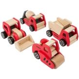 Ultrakidz Baustellenfahrzeuge aus Holz, im 4er-Set -
