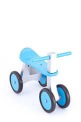 United Kids 13016-04 Rutscher / Rutschfahrzeug Ben aus Holz, blau -