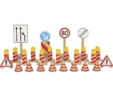 Verkehrszeichen Baustelle -