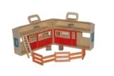 Woodyland 90879 - Pferdestall mit Zubehör aus Holz -