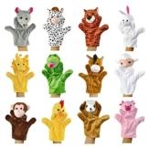 Zeagoo Original Baby Handpuppen-Set aus Plüsch | 12 lustige Handpuppen-Tiere zum Spielen und Lernen -