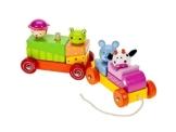 Zug mit Tieren Nachziehspielzeug aus Holz für Kleinkinder -