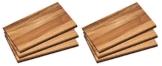 6x Frühstücksbrett 6 Frühstücksbrettchen Holz Akazie Essbrett Kesper # 23403 -