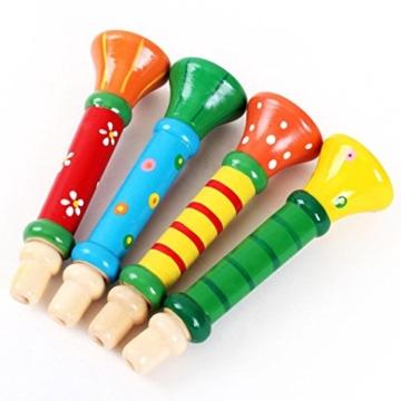 Amlaiworld Multi Color Baby Kinder Spielzeug aus Holz Horn Hupe Trompete Instrumente Musik -