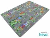 Auto Teppich HEVO ® Kinder Strassen Spielteppich | Kinderteppich 145x200 cm -