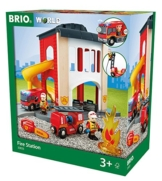 BRIO 33833 - Große Feuerwehr Station mit Einsatzfahrzeug, bunt -