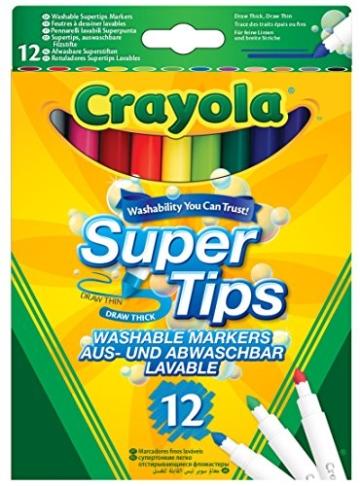 Crayola 03.7509DM - 12 Supertips Filzstifte einfach auswaschbar -