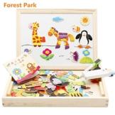 CrazySell Magnetisches Spielzeug Magnet Doodle aus Holz Zeichnung Maltafel für Kinder ab 3 Jahren (Style C) -