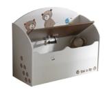Demeyere 234549 Spielzeugtruhe Ted und Lily für Kinderzimmer 69.5 x 55.5 x 29.5 cm, beige / chocolate -